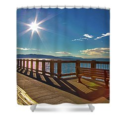 Fairhaven Boardwalk Shower Curtain