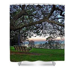 Fairhope Swing On The Bay Shower Curtain