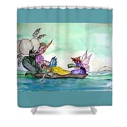 Fairies At Sea Shower Curtain