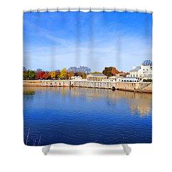 Fairmount Water Works - Philadelphia Shower Curtain by Bill Cannon