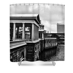 Fairmount Water Works In Black And White Shower Curtain by Bill Cannon