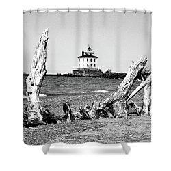 Fairport Harbor Lighthouse Shower Curtain