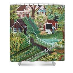 Fairview Farm Shower Curtain by Virginia Coyle
