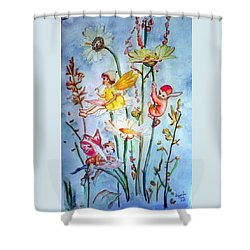 Fairy Babies Shower Curtain