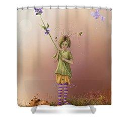 Fairy Bella Lavender Shower Curtain