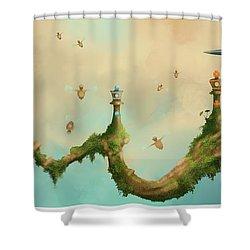 Fairy Chess Shower Curtain