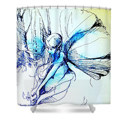 Fairy Doodles Shower Curtain