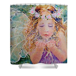 Fairy Dust Shower Curtain by Nicole Gelinas