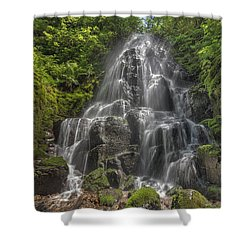 Fairy Falls On A Sunny Day Shower Curtain by David Gn