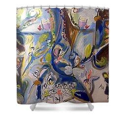 Fairy Land Celebrates Shower Curtain by Judith Desrosiers