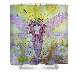 Fairy Messenger  Shower Curtain