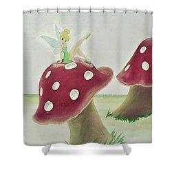 Fairy On Mushroom Trees Shower Curtain