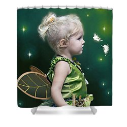 Fairy Princess Shower Curtain by Brian Wallace