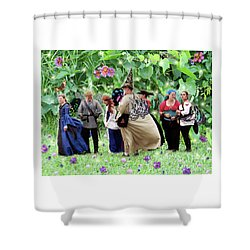 Fairy Queue Shower Curtain by Lise Winne