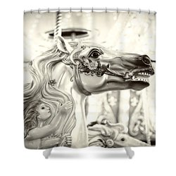 Fairy Steed Shower Curtain by Caitlyn  Grasso