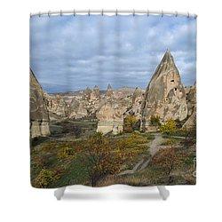 Fairy Tale Of Cappadocia Shower Curtain by Yuri Santin