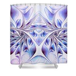 Shower Curtain featuring the digital art Fairy Wings by Jutta Maria Pusl