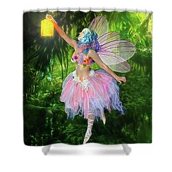 Fairy With Light Shower Curtain