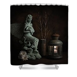 Fairy With Lilies Shower Curtain