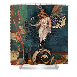 Fairyland Two Shower Curtain by Carrie Joy Byrnes