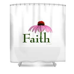 Shower Curtain featuring the digital art Faith Coneflower Shirt by Ann Lauwers