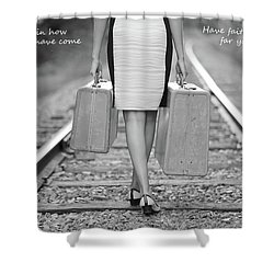 Shower Curtain featuring the photograph Faith In Your Journey by Barbara West
