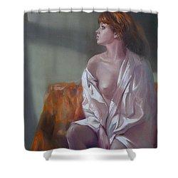 Faith Shower Curtain by Sergey Ignatenko