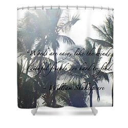 Faithful Friends Shower Curtain by Karon Melillo DeVega