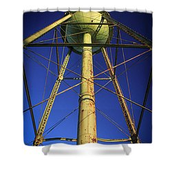 Shower Curtain featuring the photograph Faithful Mary Leila Cotton Mill Water Tower Art by Reid Callaway