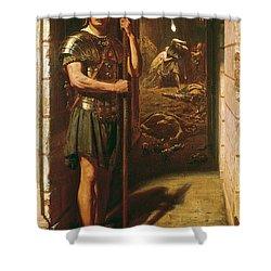 Faithful Unto Death Shower Curtain by Sir Edward John Poynter