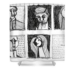Falbulas No. 8  Shower Curtain