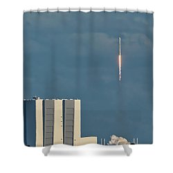 Falcon 9 Launch Shower Curtain