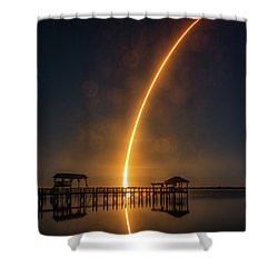 Falcon 9  Night Launch Shower Curtain