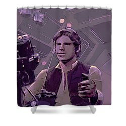 Falcon Gun Turret Shower Curtain