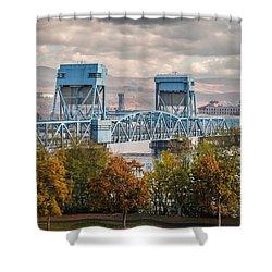 Fall 2015 Blue Bridge Shower Curtain