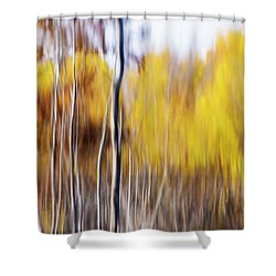Shower Curtain featuring the photograph Fall Abstract by Mircea Costina Photography