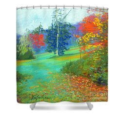 Fall Across The Field  Shower Curtain