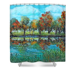 Fall Along The Charles River Shower Curtain