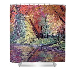 Fall Along The River Shower Curtain