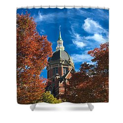 Fall And The Dome Shower Curtain by Mark Dodd