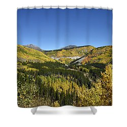 Fall Aspens In San Juan County In Colorado Shower Curtain