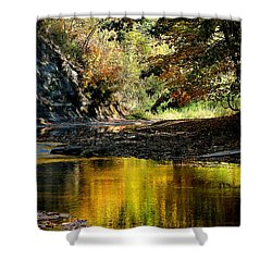 Fall At Big Creek Shower Curtain by Bruce Patrick Smith