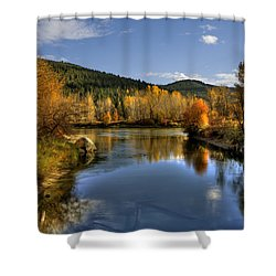 Fall At Blackbird Island Shower Curtain