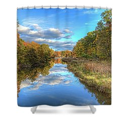 Fall At Brunswick Lake  Shower Curtain by Brent Durken