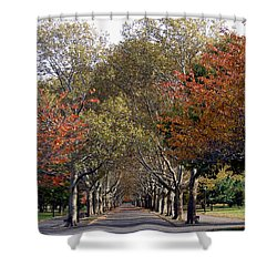 Fall At Corona Park Shower Curtain