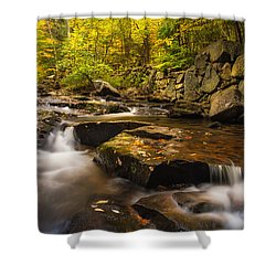 Shower Curtain featuring the photograph Fall At Gunstock Brook by Robert Clifford
