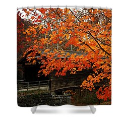 Fall At Humpback Bridge Shower Curtain