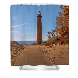 Fall At Little Point Sable Light Shower Curtain