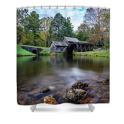 Fall At Mabry Mill Shower Curtain
