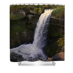 Fall At Minnehaha Falls Shower Curtain by Tom Reynen